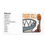 Rollo del dedo tarjeta de negocio