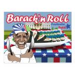 Rollo del n de Barack del sushi presidencial Tarjeta Postal