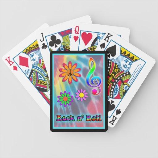 Rollo del n de la roca baraja cartas de poker