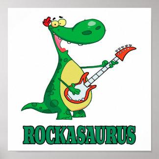 rollo Dino dinosaur.ai de la roca n del Póster
