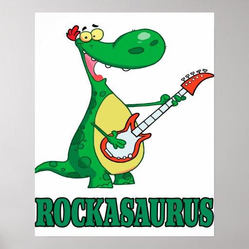 rollo Dino dinosaur.ai de la roca n del rockasauru Póster
