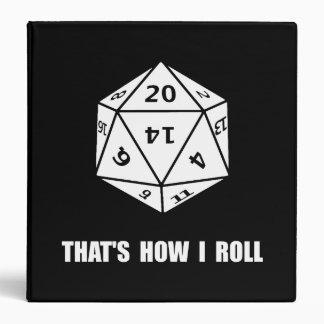 "Rollo echado a un lado de 20 dados carpeta 1 1/2"""
