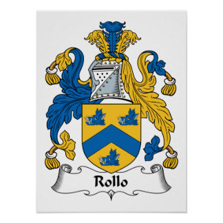 Rollo Family Crest Poster