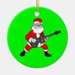 Rollo Papá Noel de la roca N Ornamento Para Reyes Magos