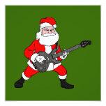 Rollo Papá Noel de la roca N Invitación 13,3 Cm X 13,3cm