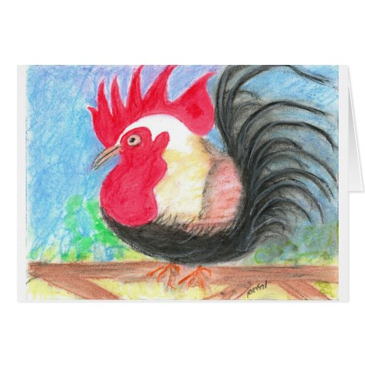 rollo rooster greeting card