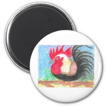 rollo rooster magnet