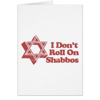 Rollo Shabbos del judaísmo Tarjeton