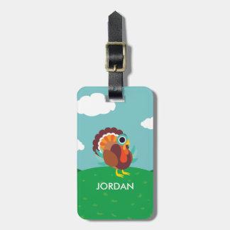 Rollo the Turkey Luggage Tag