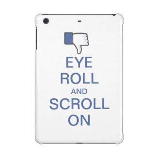 Rollo y voluta del ojo en Snarky Facebook