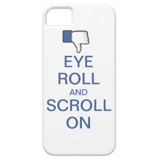 Rollo y voluta del ojo en Snarky Facebook iPhone 5 Fundas
