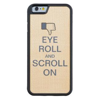 Rollo y voluta del ojo en Snarky Facebook Funda De iPhone 6 Bumper Arce