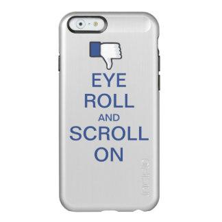 Rollo y voluta del ojo en Snarky Facebook Funda Para iPhone 6 Plus Incipio Feather Shine