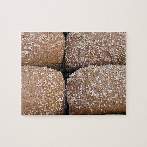 Rollos de pan de Brown Puzzle Con Fotos