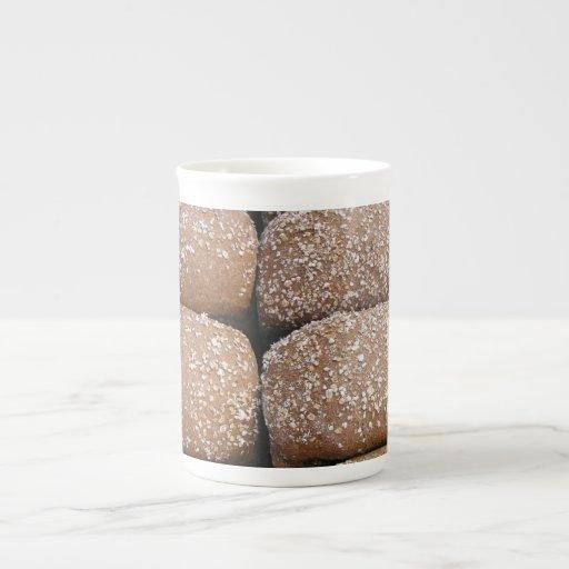 Rollos de pan de Brown Tazas De Porcelana