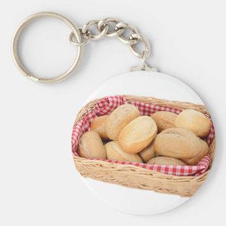 Rollos de pan fresco llavero redondo tipo pin