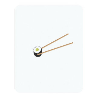 """Rollos de sushi con los palillos invitación 4.25"""" x 5.5"""""""