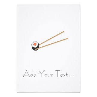 """Rollos de sushi con los palillos invitación 4.5"""" x 6.25"""""""