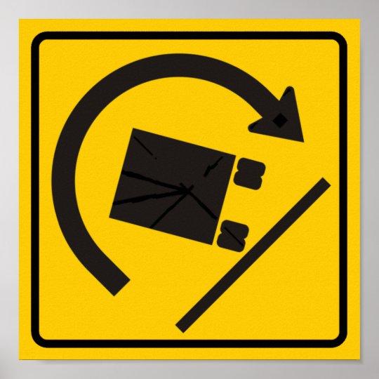 Rollover Hazard Highway Sign