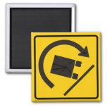 Rollover Hazard Highway Sign Fridge Magnet
