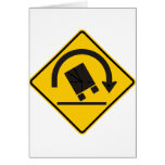 Rollover Hazard Highway Sign Greeting Cards