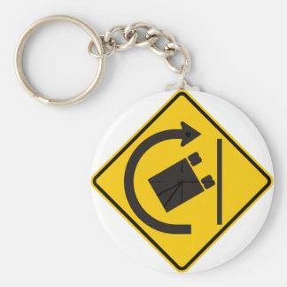 Rollover Hazard Highway Sign Keychain