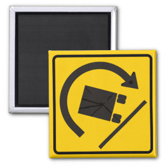 Rollover Hazard Highway Sign Magnet