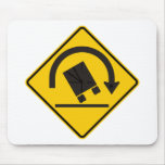 Rollover Hazard Highway Sign Mouse Pad