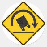 Rollover Hazard Highway Sign Stickers