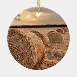 Rolls del heno ornamento para arbol de navidad