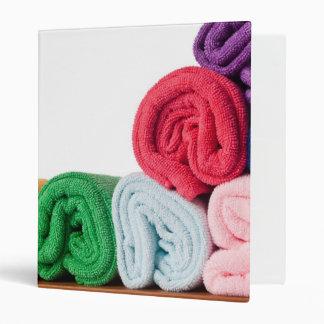 Rolls of colorful microfiber towels 3 ring binder
