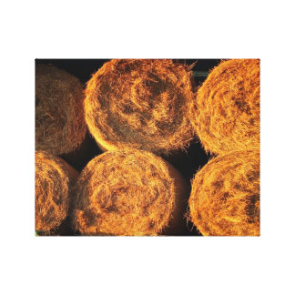 Rolls of Hay Gallery Wrapped Canvas