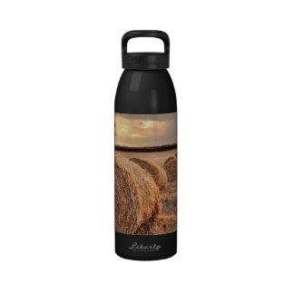 Rolls of Hay Water Bottle