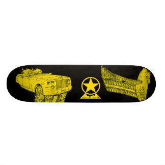 Rolls Phantom - Yellow Pop Art Skateboard #2