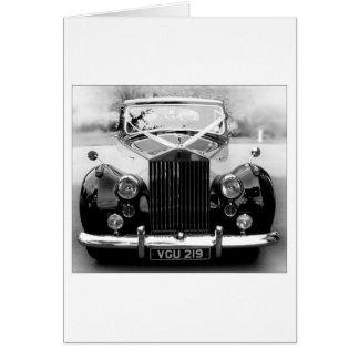 Rolls Royce Wedding Car Card