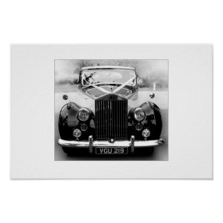 Rolls Royce Wedding Car Poster