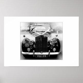Rolls Royce Wedding Car Poster