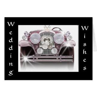 """""""ROLLS ROYCE WEDDING WISHES"""" CARD"""
