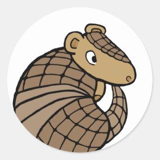 Rolly armadillo classic round sticker