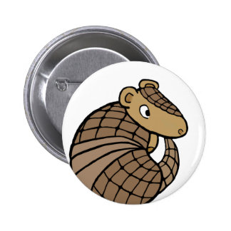 Rolly armadillo pinback button