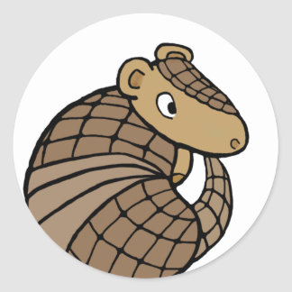 Rolly armadillo stickers