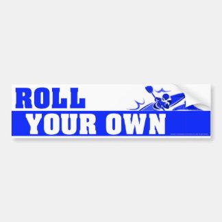 RollYourOwnBlue Etiqueta De Parachoque