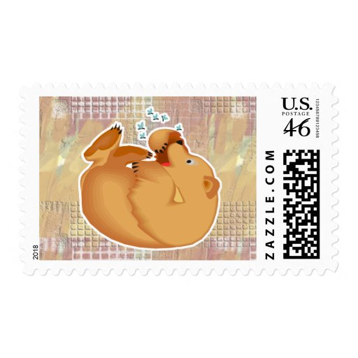 roly poly honey bear postage