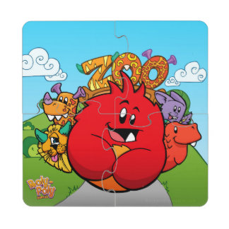 """Roly-Poly Monster """"Zoo"""" Coaster Puzzle Set"""