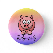 Roly-poly Pastel Pink Pig Pigling Piggywiggy Button