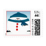 Roly-Poly Snowman Postage Stamp