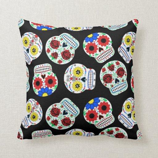 Roly Poly Sugar Skulls Pillow
