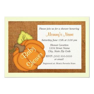 Roly Pumpkin Unisex Baby Shower Invitation