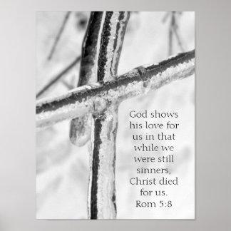 Rom 5:8 ~ Icy Cross Print