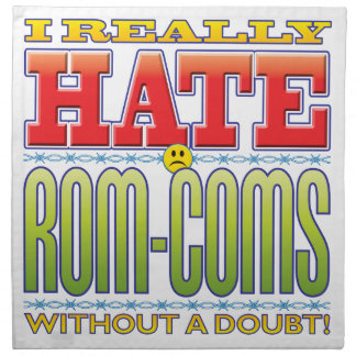 Rom-Coms Hate Face Printed Napkins